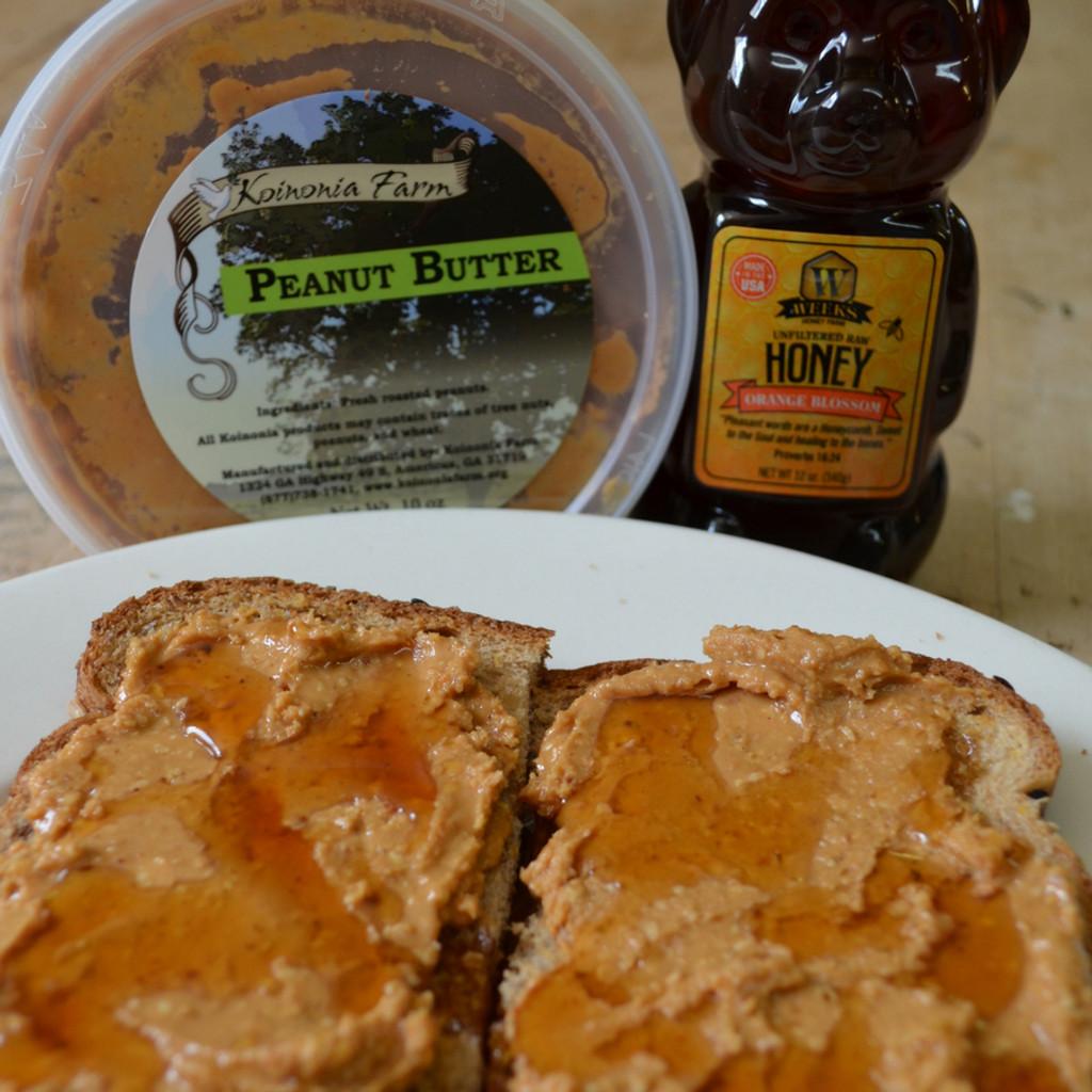 Raw Honey and Koinonia Peanut Butter