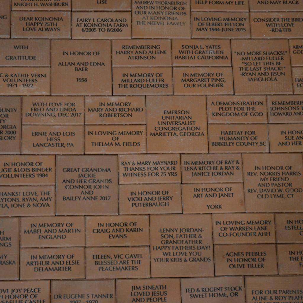 Commemorative Bricks Overview