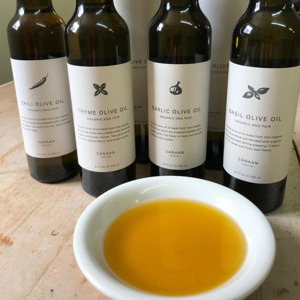All Canaan Fair Trade Flavored Olive Oil Varieties