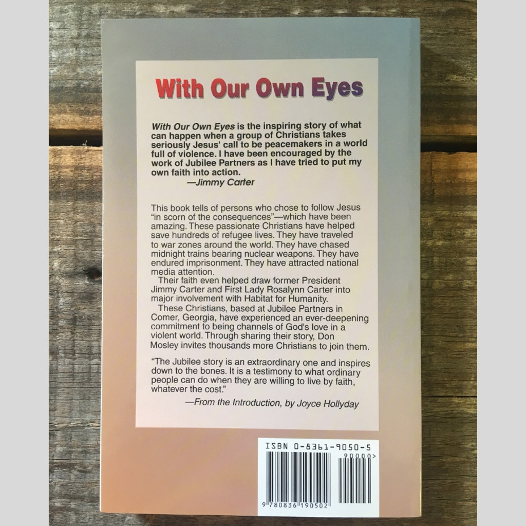 With Our Own Eyes by Don Mosley Paperback Book Back Cover