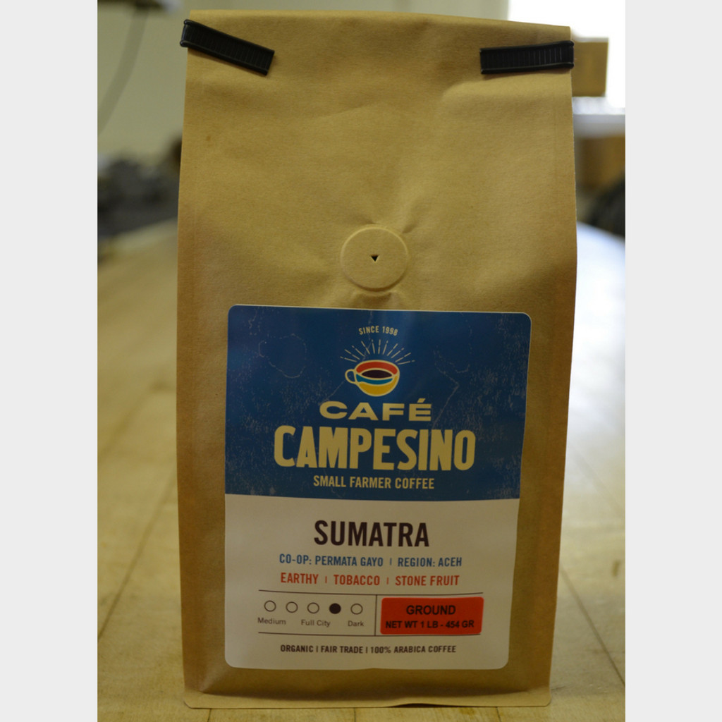Sumatra Viennese Roast Coffee 1 lb Bag Ground