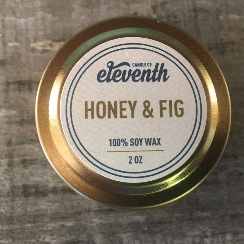 Eleventh Candle Co. Honey & Fig 2 oz. Candle Top