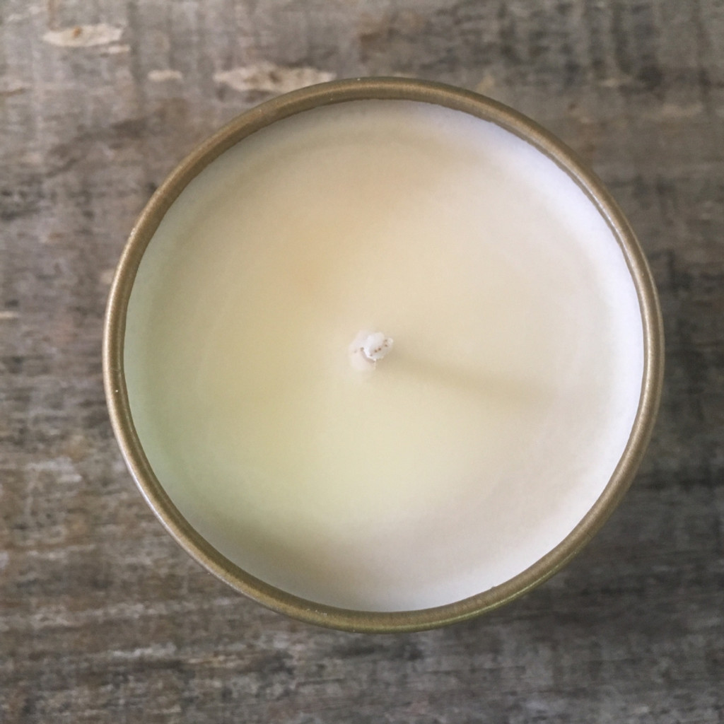 Eleventh Candle Co. Honey & Fig 4 oz. Candle Top no lid