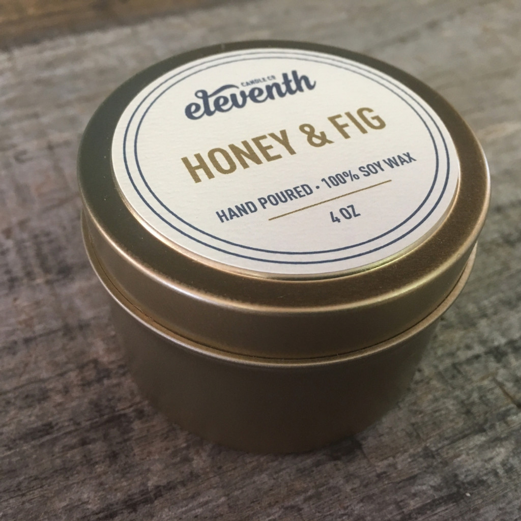 Eleventh Candle Co. Honey & Fig 2 oz. Candle Side