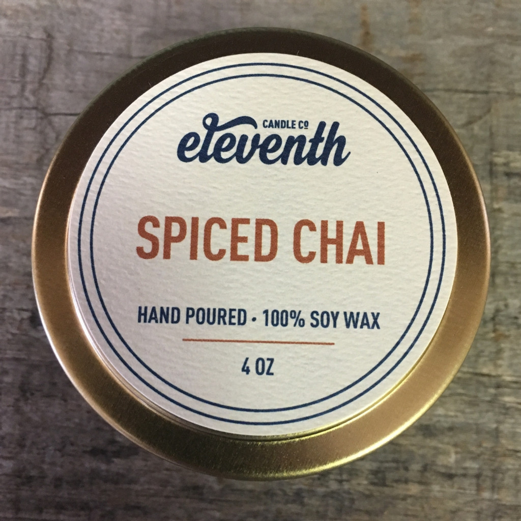 Spiced Chai Candle 4 oz. Top