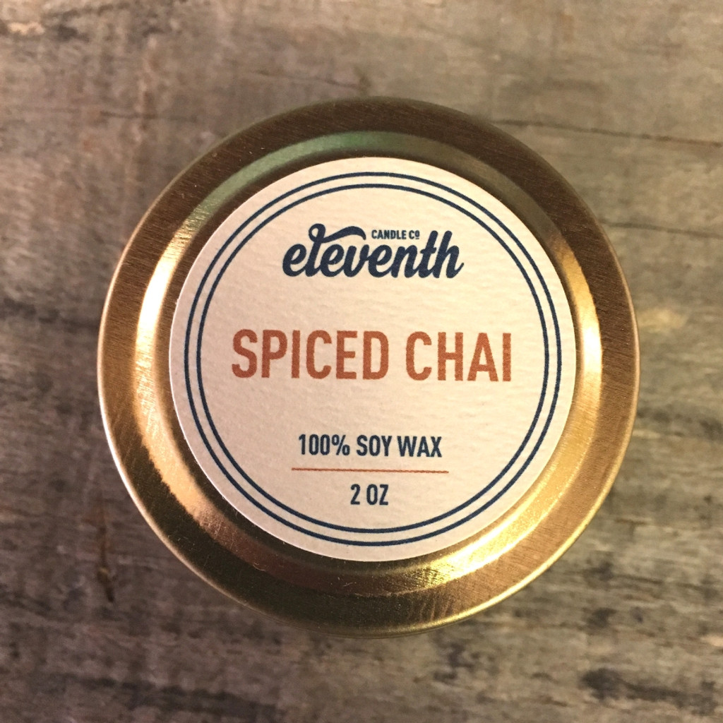 Spiced Chai Candle 2 oz. Top