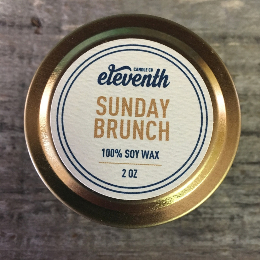 Sunday Brunch Candle 2oz Top
