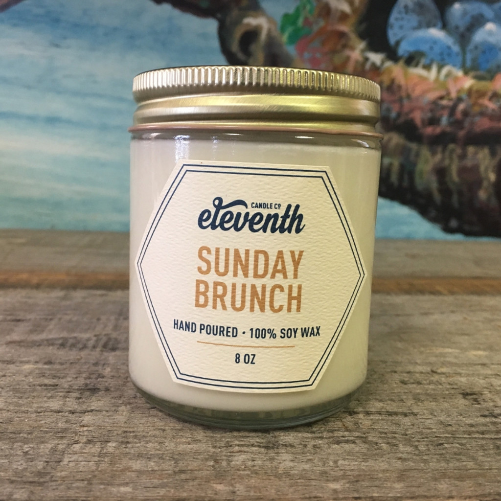 Sunday Brunch Candle 8oz Side