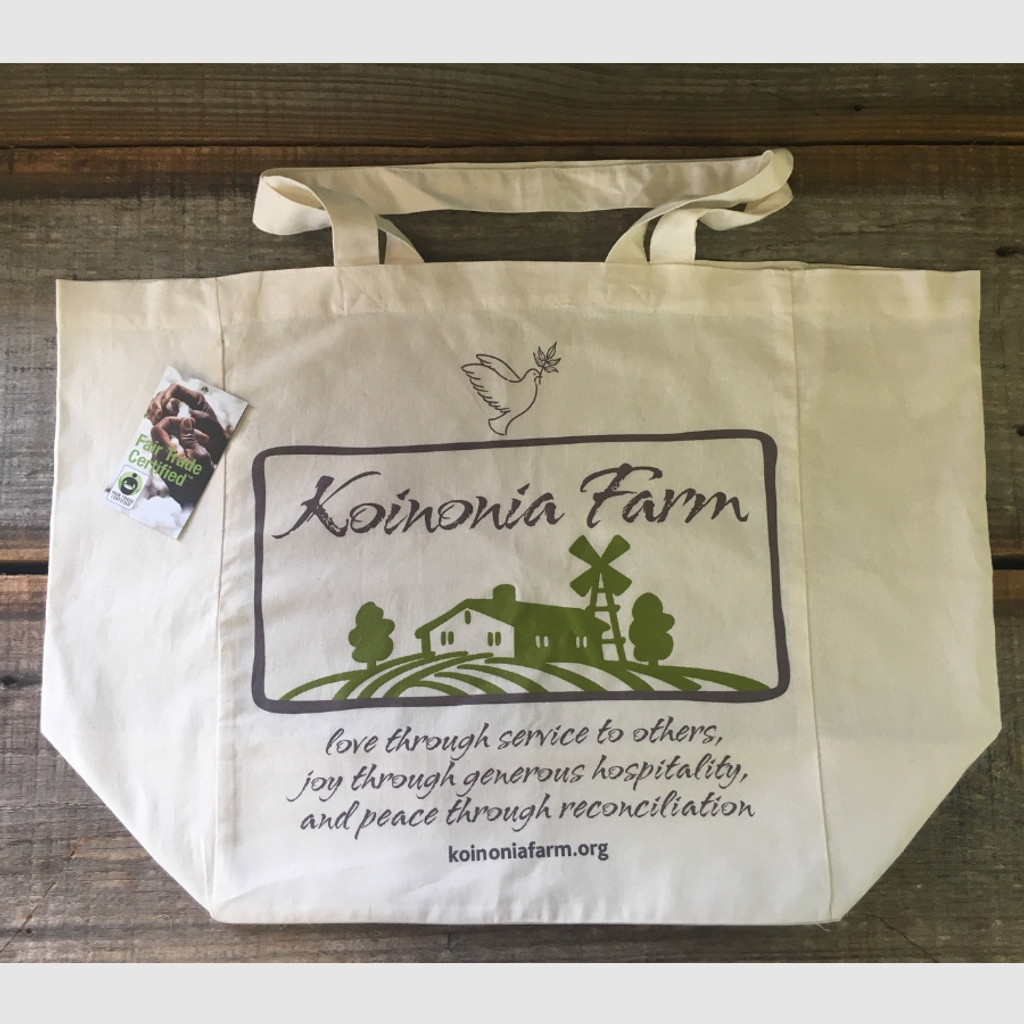 Koinonia Farm Tote Bag Flat