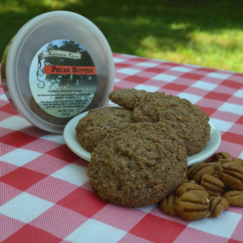 Pecan Butter Cookies with Pecan Butter Tub