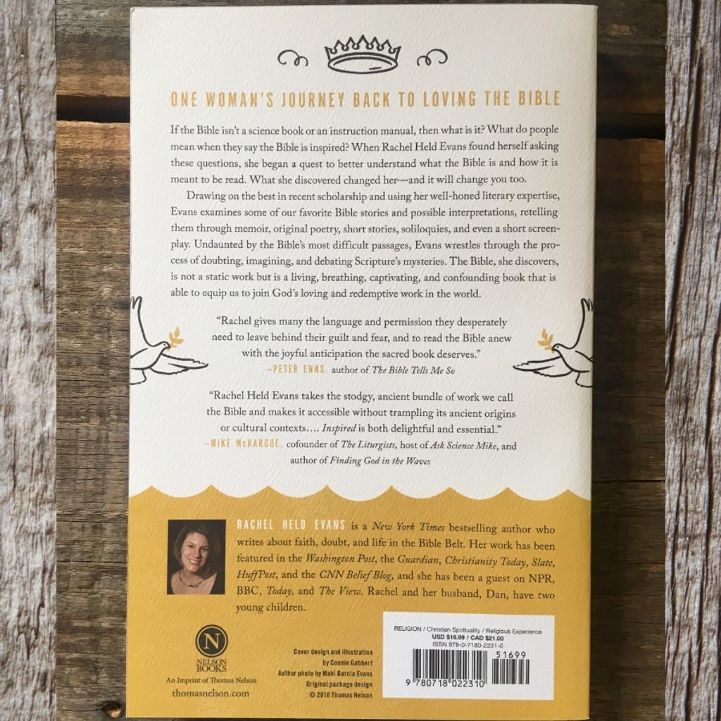 Inspired by Rachel Held Evans Book Back Cover