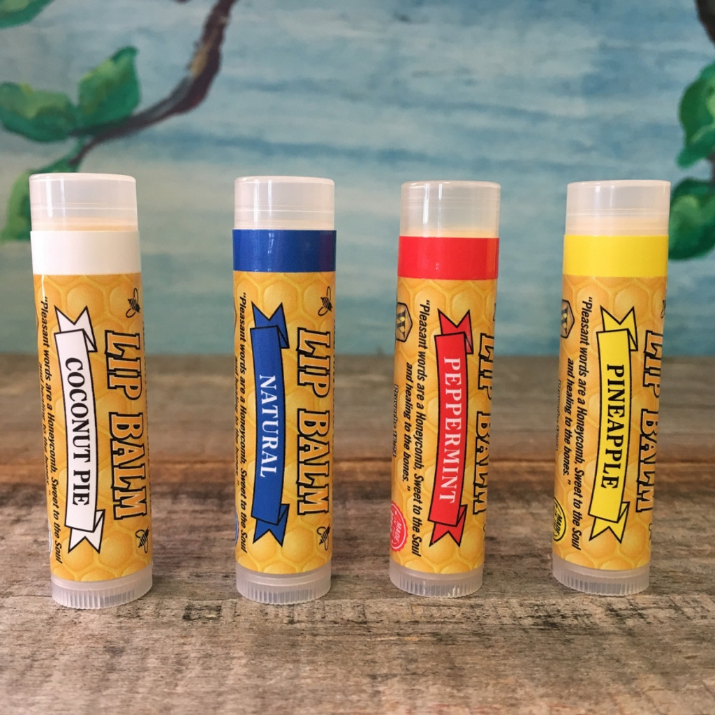 Lip Balm from Weeks Honey Farm - All four varieties