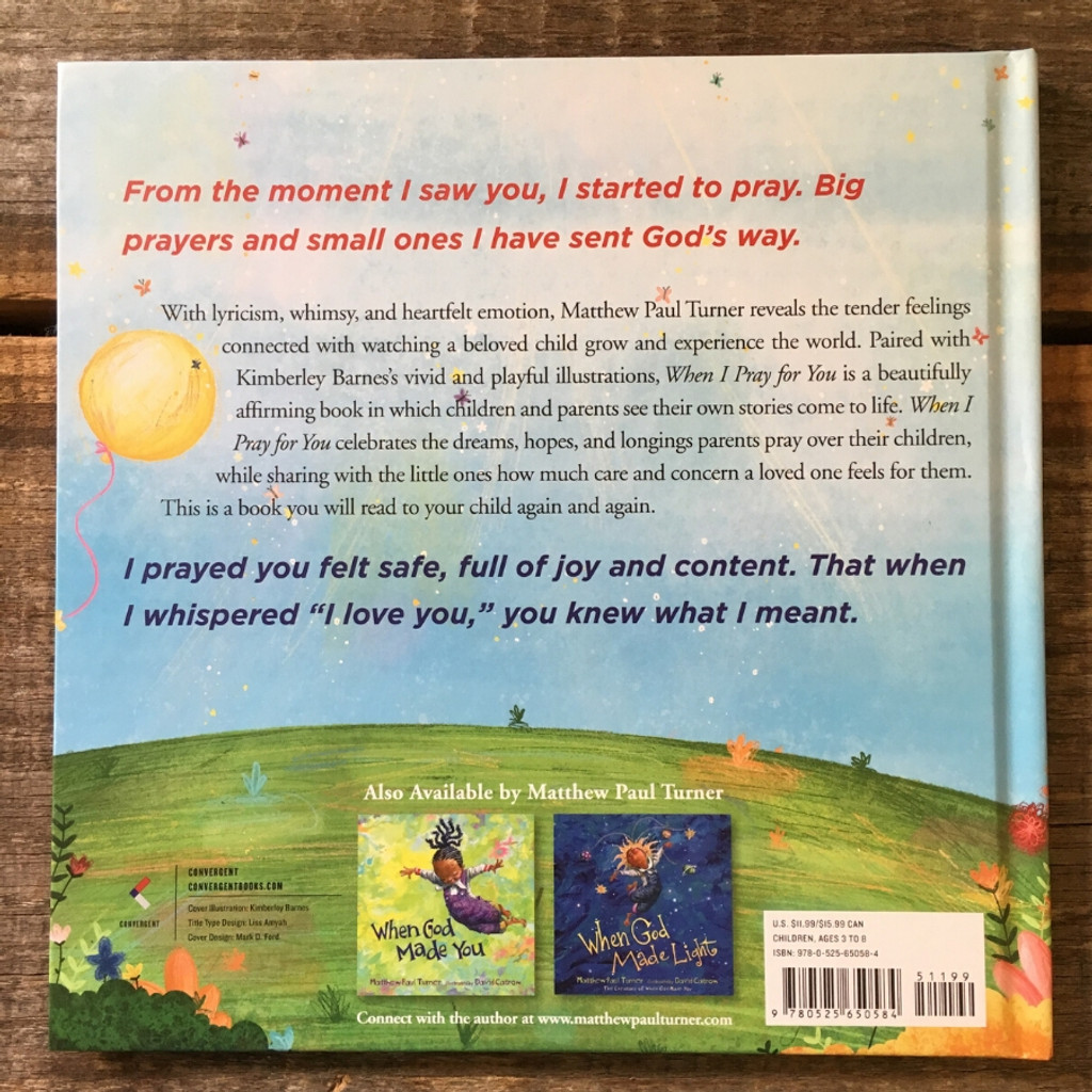 When I Pray for You by Matthew Paul Turner Back Cover