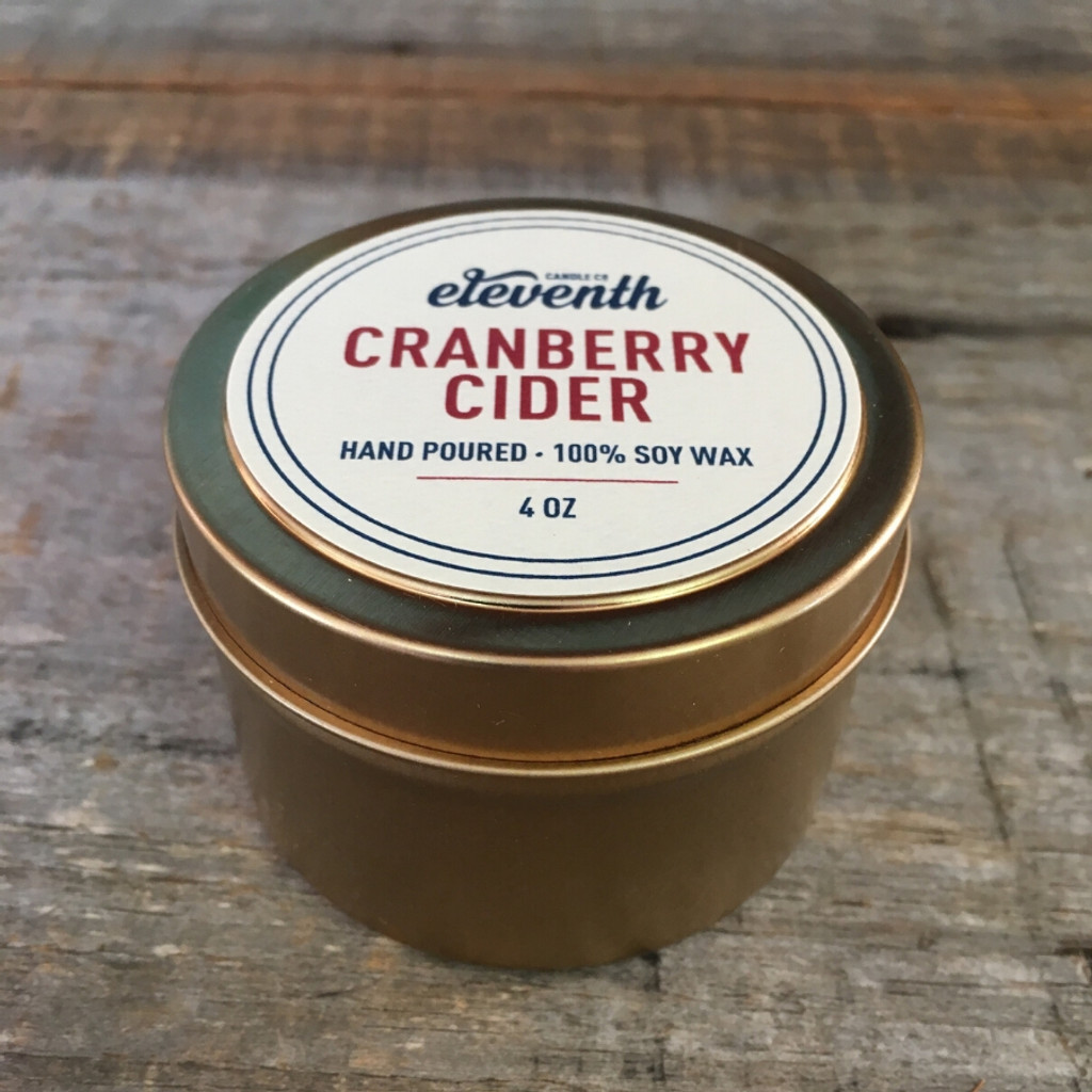 Cranberry Cider Candle 4 oz side