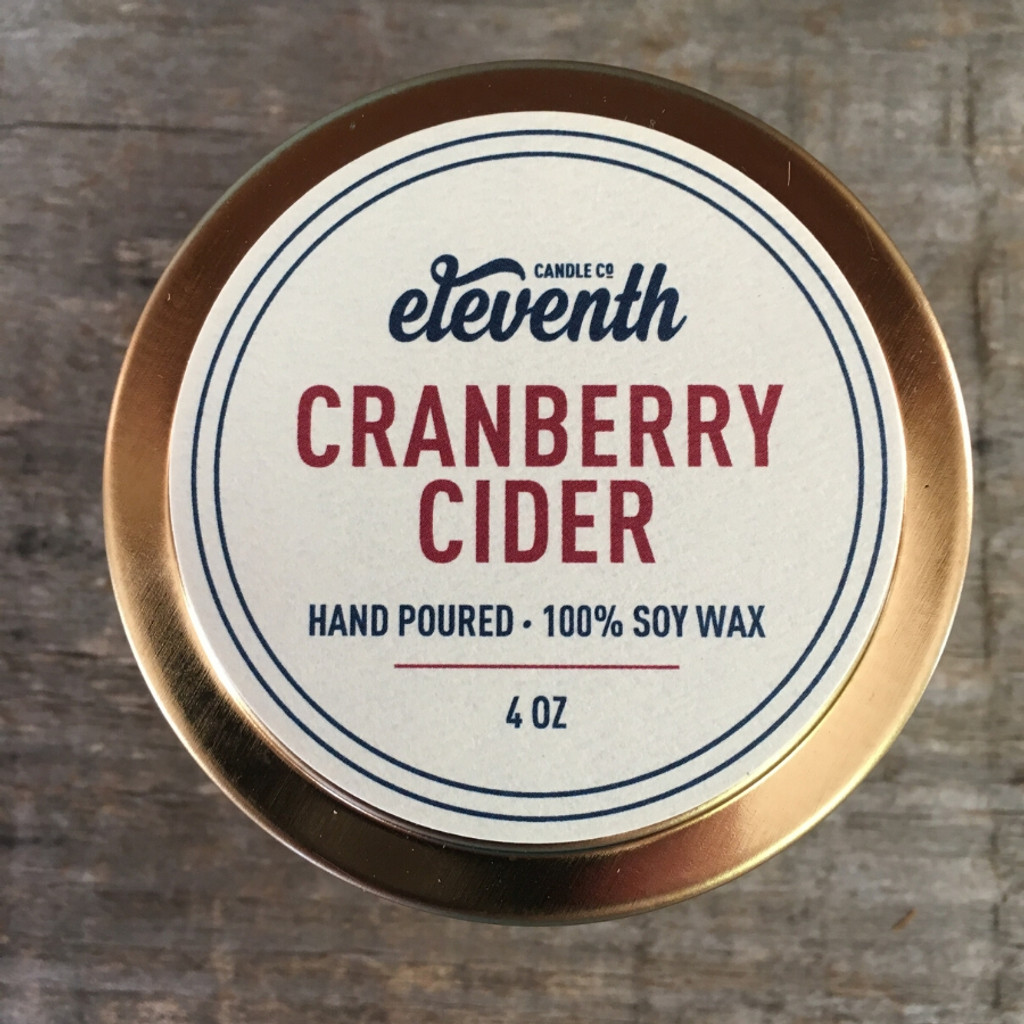 Cranberry Cider Candle 4 oz top