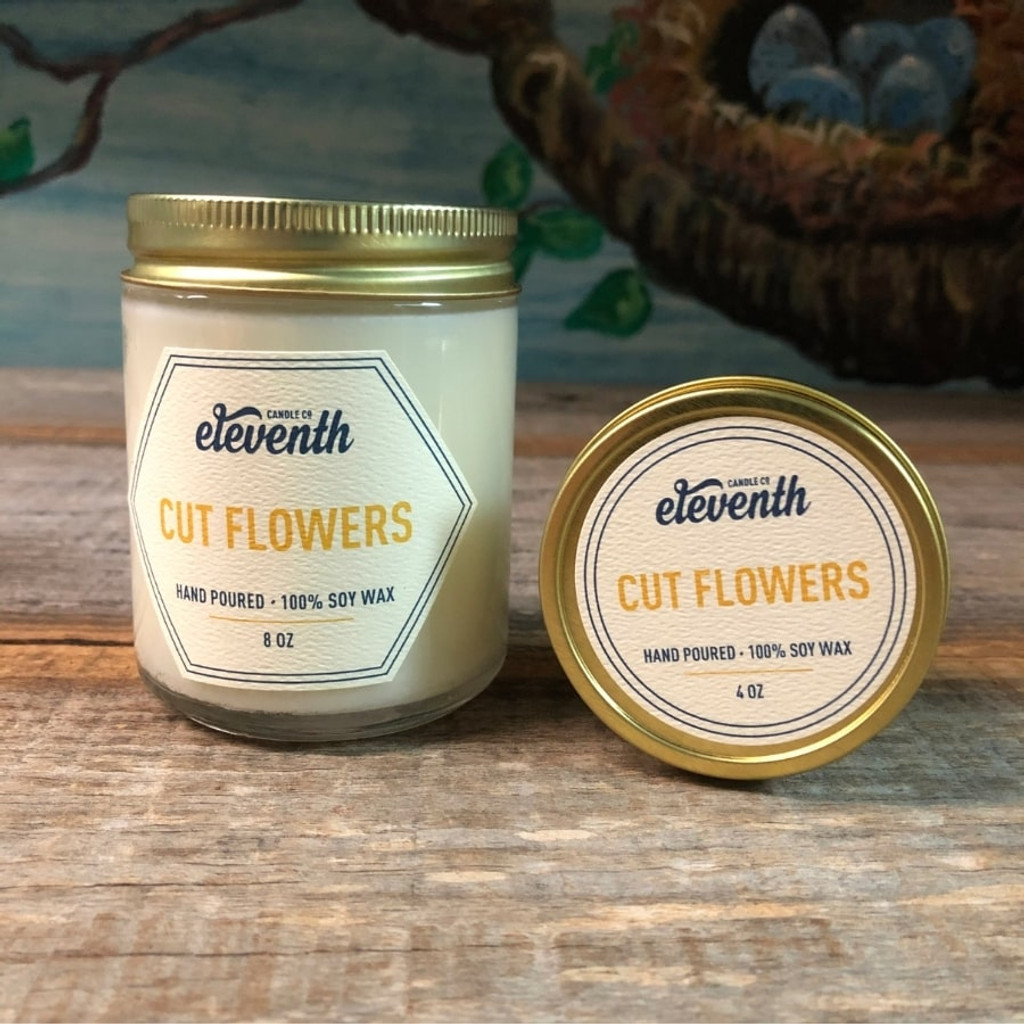 Cut Flowers Both Candles