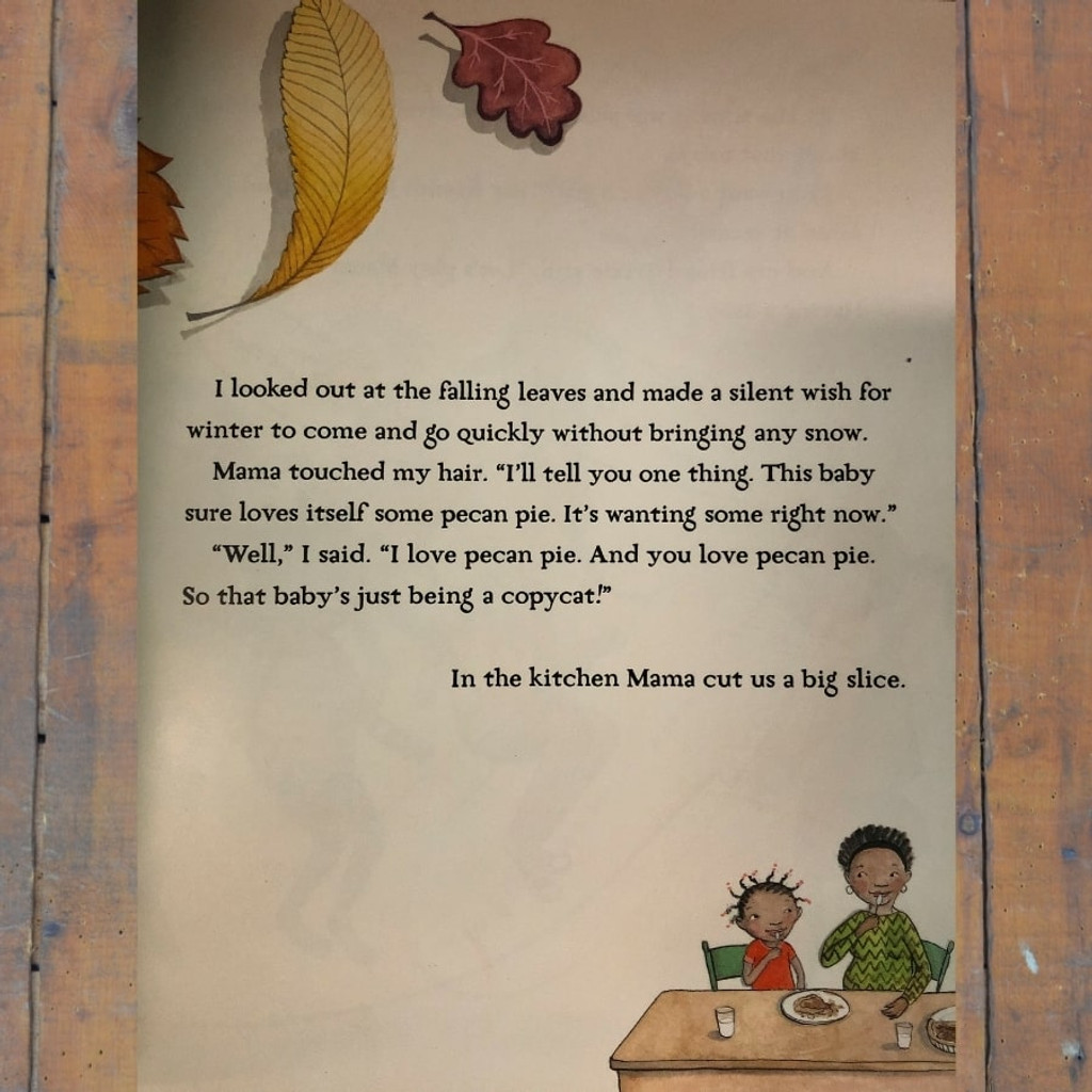Pecan Pie Baby Kid's Book Inside Page text