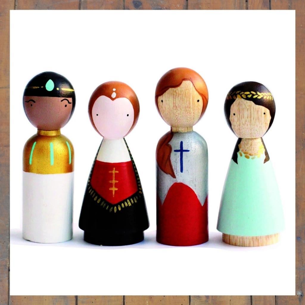Women in Power Peg Doll Set