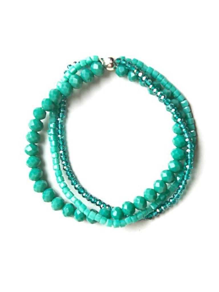 Sparkle Glass Bracelet- Teal
