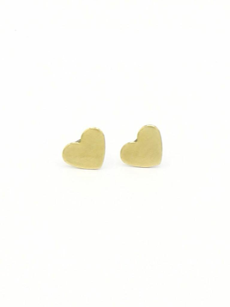 Heart Studs Brass