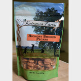 Hickory Smoked Pecans 8 oz bag front