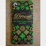 Divine Fair Trade Dark Chocolate with Mint Bar Front