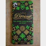 Divine Fair Trade Dark Chocolate with Mint Bar Front