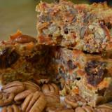 Koinonia Farm Homemade Honey-Nut Peach Cake Sliced