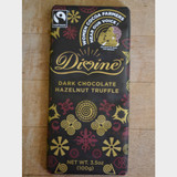 Divine Fair Trade Dark Chocolate Hazelnut Truffle Front