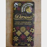 Divine Fair Trade Dark Chocolate Hazelnut Truffle Front