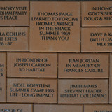 Commemorative Bricks Closeup