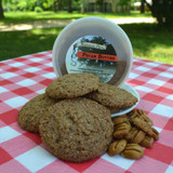Pecan Butter Cookies with Pecan Butter Tub front facing