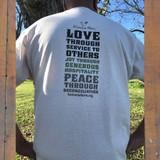 Koinonia Farm T-Shirt Back on Model