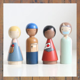 Essential Workers Peg Doll Set