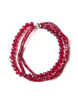 Sparkle Glass Bracelet- Red