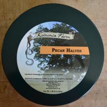 Koinonia Farm Shelled Pecan Halves 1 lb 8 oz Tin