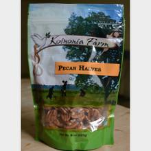 Koinonia Farm Shelled Pecan Halves 8 oz bag front