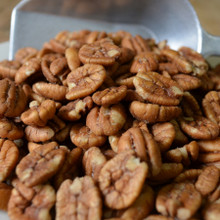 Hickory Smoked Pecans Close Up
