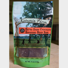 Fair Trade Extra Dark Chocolate Espresso Bean Bark 4 oz Bag front