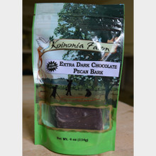 Extra Dark Chocolate Pecan Bark 4 oz bag front