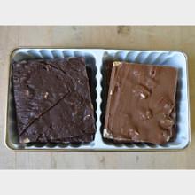 Fair Trade Dark and Milk Chocolate Pecan Bark Twin Delight