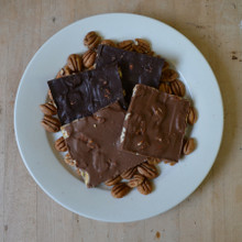 Fair Trade Dark and Milk Chocolate Pecan Bark