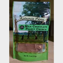 Fair Trade Milk Chocolate Peanut Crunch 4 oz Bag Front