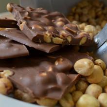 Fair Trade Milk Chocolate Peanut Crunch Close-Up