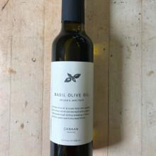 Basil Infused Olive Oil 8.4 oz Glass Bottle Front Label