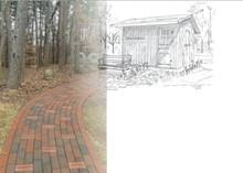 Prayer Garden with Commemorative Bricks