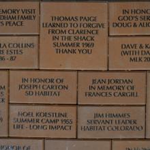 Commemorative Bricks Closeup