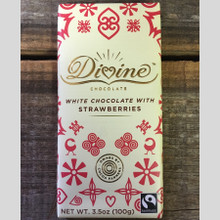 Divine Fair Trade White Chocolate with Strawberries