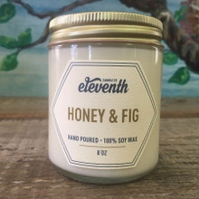 Eleventh Candle Co. Honey & Fig 8 oz. Candle