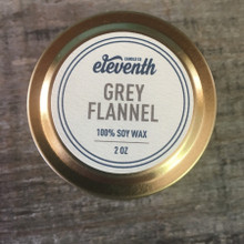Eleventh Candle Co. Grey Flannel 2 oz Candle Top